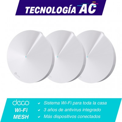 Kit Sistema Wifi TP-LINK Deco M5(3-pack), Color blanco, 1300 Mbps