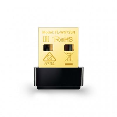 Adaptador USB Nano TP-LINK TL-WN725N, USB, 150 Mbit/s, Negro