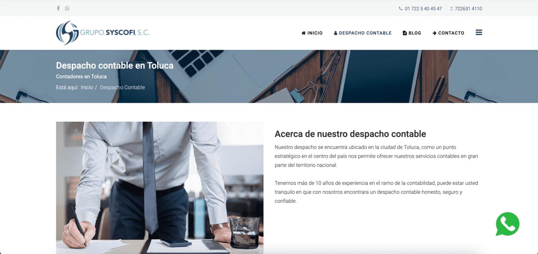 Lee más sobre el artículo Diseño de página Web para Contadores en Toluca