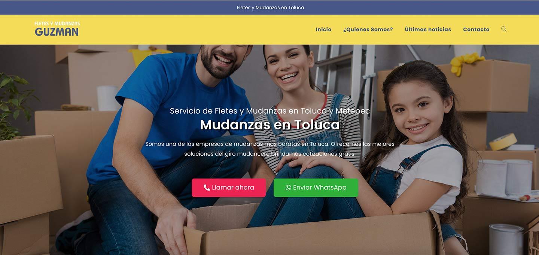 Lee más sobre el artículo Diseño de páginas web para Mudanzas en Toluca