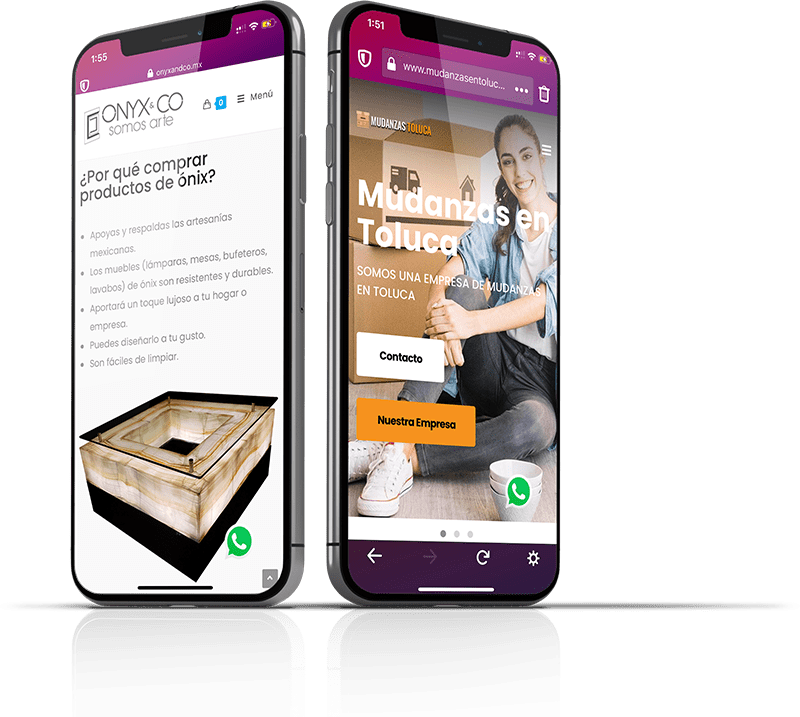 Pagina web en celulares